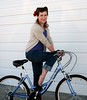 Make believe (Sammy Mae M) Tags: fall girl bike rockabilly redlipstick octopustattoo