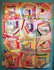 #BeeTweet quilt top (Erin - TwoMoreSeconds) Tags: quilt top sewing bee quilting imadethis scraps quiltblocks twitter quilingbee beetweet