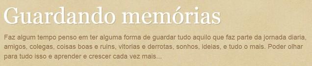 guardando memorias
