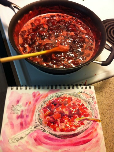 Making Fresh Strawberry Jam by apple-pine