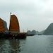 Barcos e mais barcos cheios de turistas