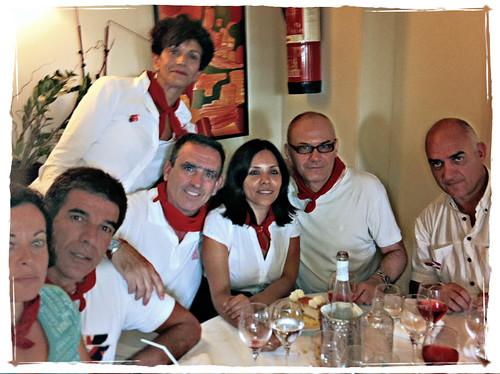 Momentico San Fermín 2011 - con mis guapísimos compañeros de periodismo