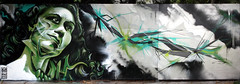 Green-Justify (Lord Leigh) Tags: woman abstract green art girl lady breakfast painting graffiti mono riot mural paint graphic lord line form shape 68 mista riot68