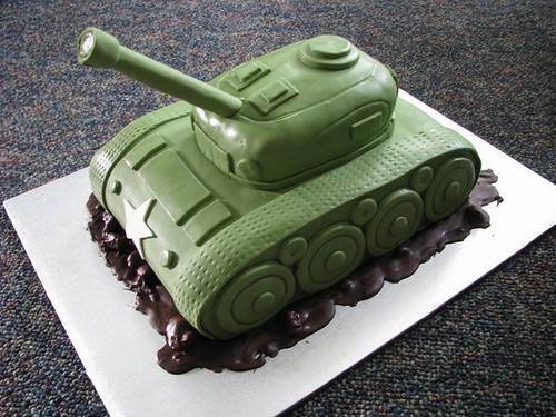 World War II Tank Cake