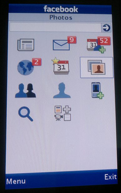 Facebook chat application for java phones