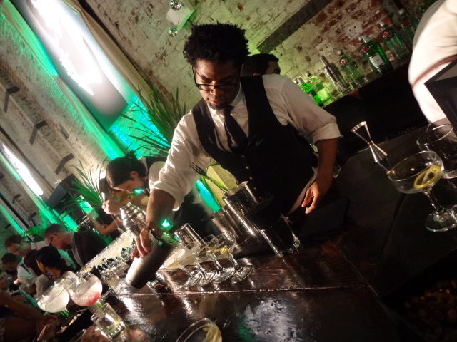 The dapper Charles Hardwick preps some delicious Tanqueray libations