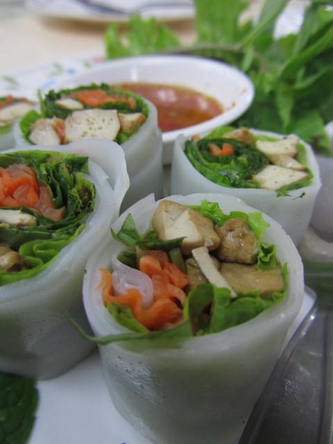 Thai vegetarian noodle rolls