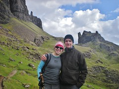 Clare & Dennis Hiking the Quiraing
