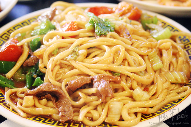 Beef Stir-fried Handmade Noodles, Chinese Noodle House