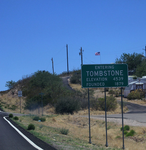 Entering Tombstone