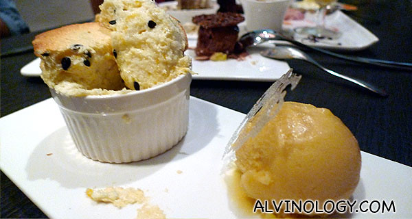 What better way to round up the evening than with Souffles?