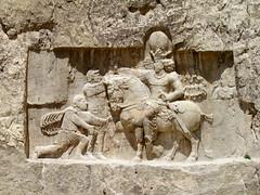 The Triumph of Shapur I, Naqsh-e Rostam (twiga_swala) Tags: rock persian carved site ancient iran crosses persia iranian archaeological tombs reliefs rustam achaemenid rostam     salib naqshe