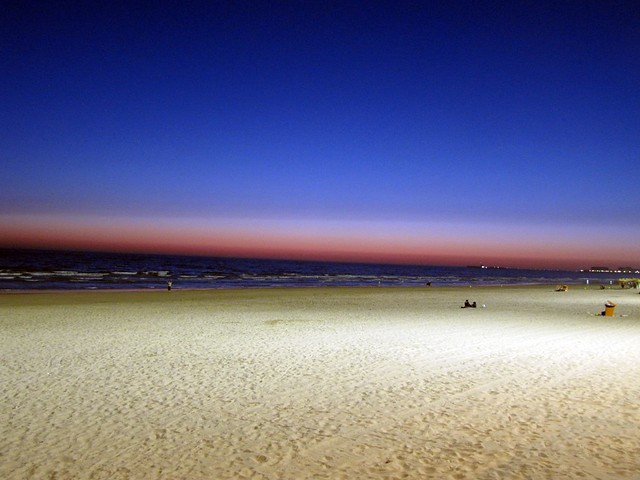 Cadiz Sunset lit beach