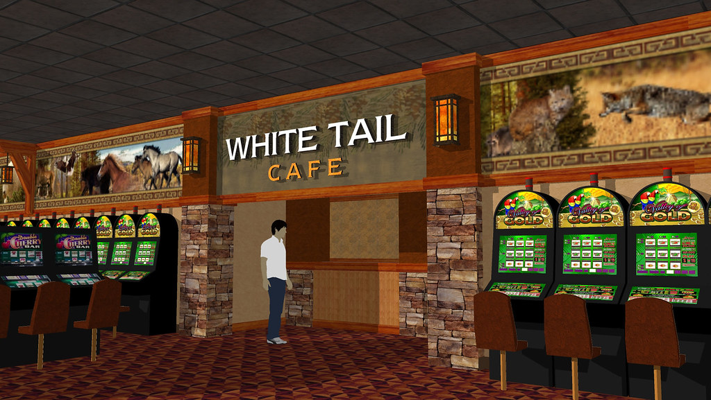 Interior Casino Rendering | Casino Decor Design | Conceptual Casino Rendering | Gaming Floor Décor | Nature Themed Casino | Casino Cafe Entrance