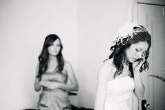 (Inn Kostukovsky) Tags: wedding love film girl sisters bride waiting slim veil arms ishootfilm balckandwhite moment gown weddingday tender inlove expectations gettingready weddingphotography contax645