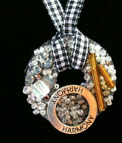 Pretty mixed-media necklace using new Aleene's Dry Adhesives