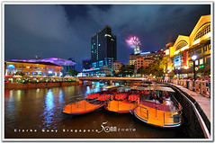clarke quay - boat ride (fiftymm99) Tags: travel river shopping lights boat nikon singapore asia tour ride tourist quay lantern lanternfestival boatquay mooncake autumnfestival clarkequay refelection d300 centralshoppingmall fiftymm99 gettyimagessingaporeq2