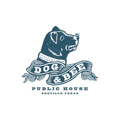 Dog & Bee Pub Logo (Howdy, I'm H. Michael Karshis) Tags: