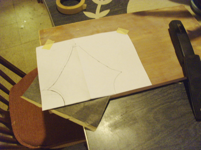 Using Carbon paper to trace pattern onto wood...