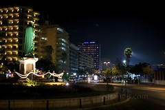 Los Boliches Night View - Fuengirola, Spain - Day 179/365 (trondjs) Tags: street city travel summer holiday oneaday saint statue night canon palms photography 50mm coast photo spain mediterranean raw cityscape sigma andalucia palm espana photoaday 5d costadelsol nightphoto carmen fuengirola photog pictureaday patronsaint 2011 project365 virgendelcarmen trondjs andalucia project365179 sigma50th project36528jun11 project365062811