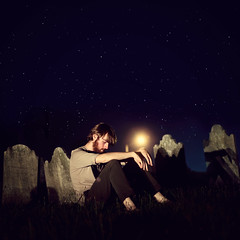 365/197 - Gave You All (RachelMarieSmith) Tags: sky graveyard night canon stars photography modeling explore canon60d mumfordandsons