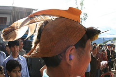 Head dress on the way to the Kameng river Adventure rafting and Kayaking trip