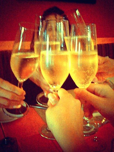 Cheers to our ladies' night out at Tapenade Bistro with some Blue Mountain Brut.
