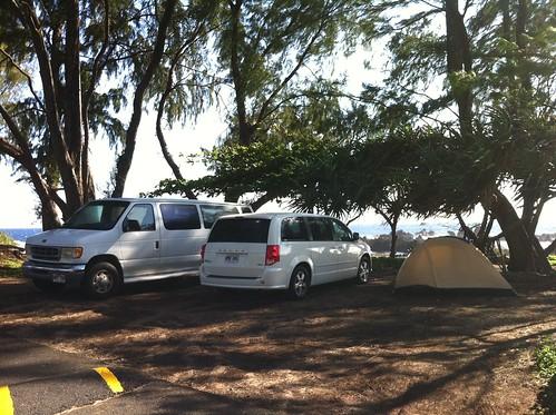 Vans at Laupahoehoe