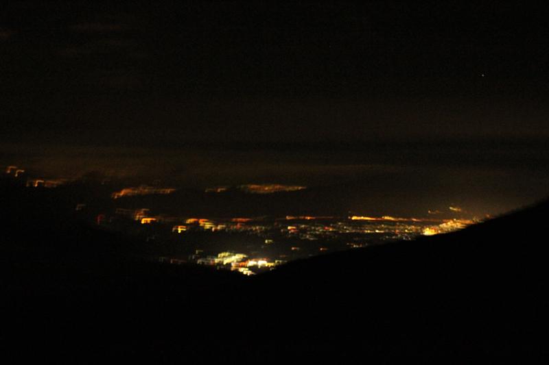富士山6合目からの夜景