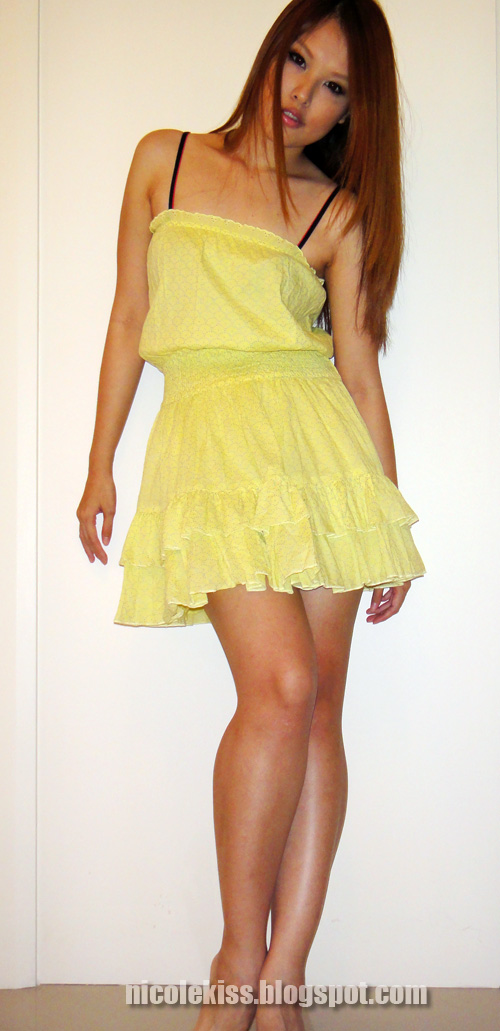 victoria secret yellow sundress 2