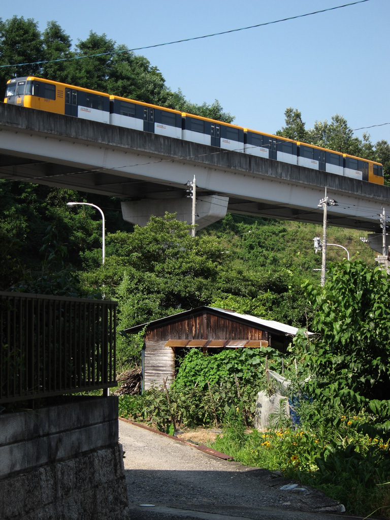 Astram Line at the suburb of Hiroshima