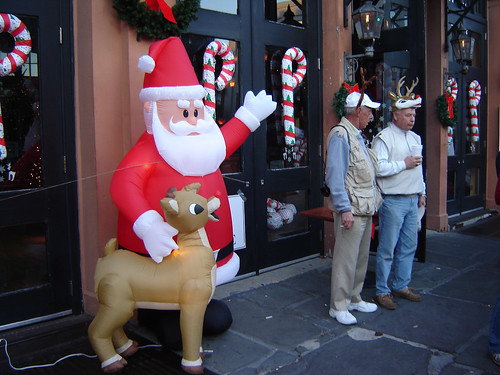 Inflatable... uh, Santa