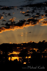 July 25 -  Goodnight Mr. Sun (Michael Koole - Vision Three Images) Tags: sunset sky clouds michael backyard nikon july webs d300 tamron2875mmf28 koole michaelkoole oakfieldtownship 2011365