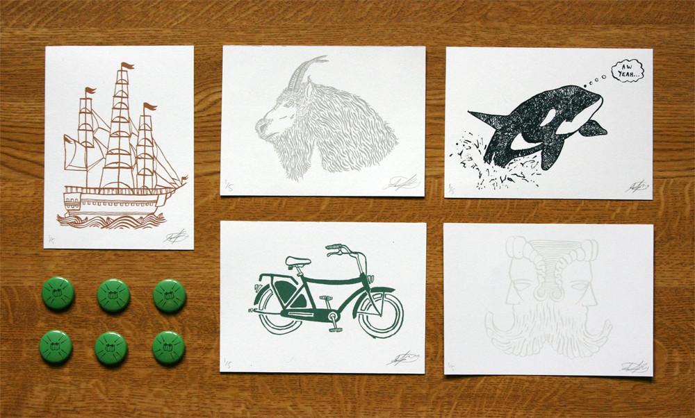 Shop Giveaway - Print Winners