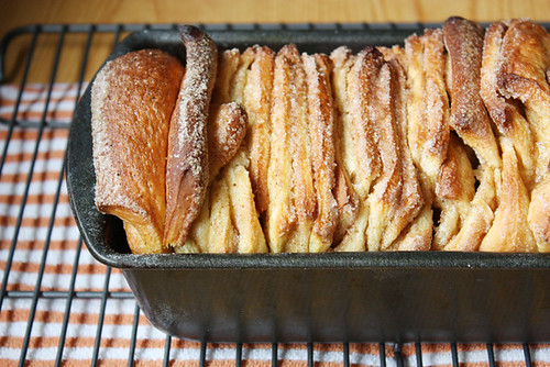 cinnamon browned butter pull-apart loaf.