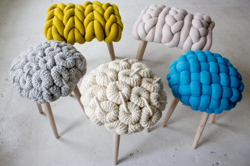 Claire-Anne O'Brien giant knit stool 1