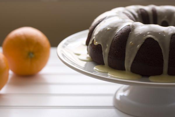Orange-Glazed Chocolate Bundt Cake