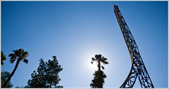 210 of 365 - Magic Mountain. (dunksrnice) Tags: park mountain tree silhouette la los nikon ride angeles magic jr superman palm roller theme 365 nikkor coaster f28 rolo day210 210 2470mm 2011 d700 tanedo dunksrnice wwwdunksrnicenet rolotanedo dunksrnicenet rolotanedojr