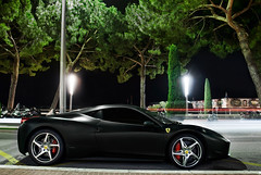 Ferrari 458 Italia (__martin__) Tags: summer cars night nikon italia july ferrari monaco 1750 autos tamron nuit exotics blackmat carspotting 458 d90 carsightings