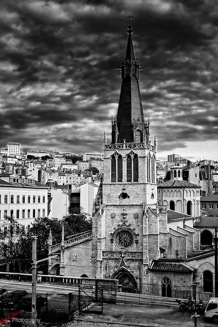 Lyon Church in Black & White
