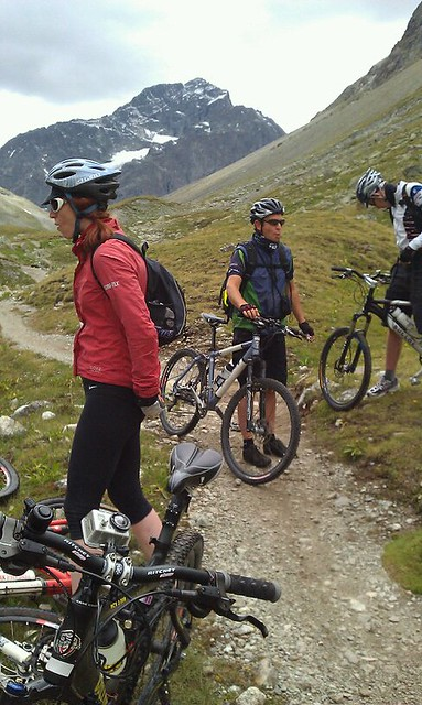 Mountain biking in St Moritz