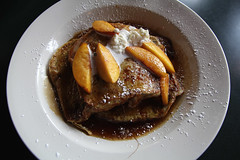 Armaretto Peach French Toast from Panzanella (Dan | Hacker | Photography) Tags: food northcarolina frenchtoast carrboro panzanella brunchpeach
