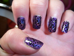 China Glaze LOL with Konad Black (ashleymalice) Tags: lol leopard holographic chinaglaze konad