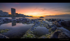 Calahonda Beach tidal pools..... (Jerimias Quadil) Tags: morning travel vacation sky espaa seaweed reflection maana beach water yellow photoshop sunrise canon golden spain rocks colorful soft waves unique peaceful obsession playa amarillo viajes puestadesol karma burningsky lowtide inspirational mistress 1020 naranja vacaciones hdr suave rocas semester hoteles pacfico ondas alga dorado resa commitment morgon lucisart tidalpools cs4 jq compromiso mareabaja photomatix 50d sigma1020mmf456exdchsm obsesin jerimiasquadil calehonda lightfanatic piscinasdemarea