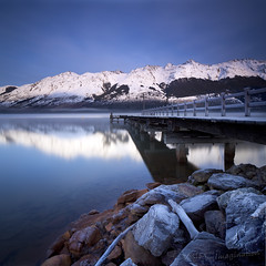 A day is not enough (Garry - www.visionandimagination.com) Tags: winter mountain snow cold reflection art ice marina season square landscape pier rocks frost paradise silent jetty peaceful tranquility alpine wharf kinloch tranquil lakewakatipu glenorchy momentsofdreams