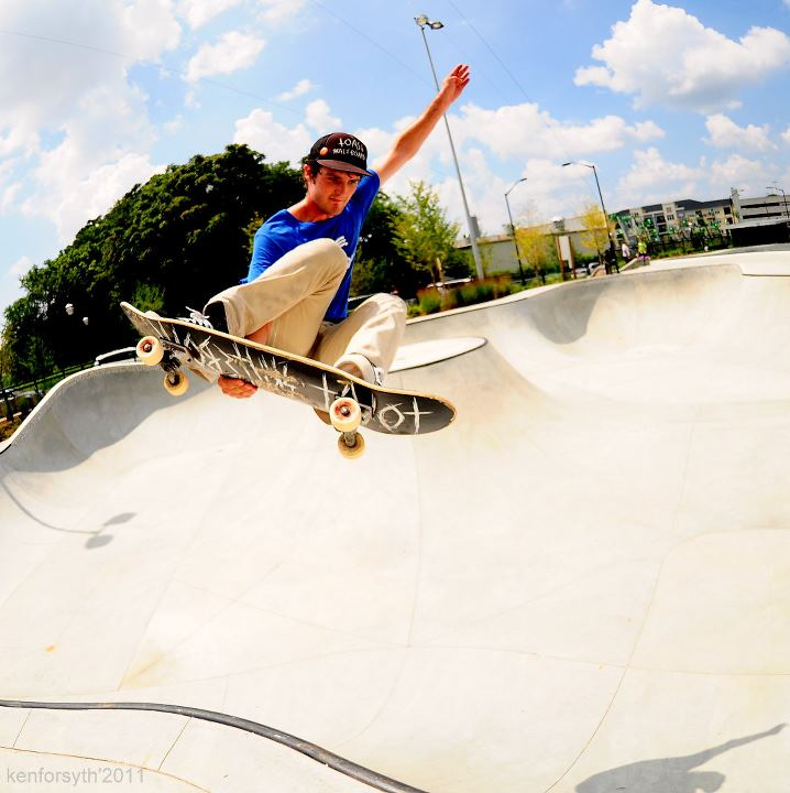 Erich At 4th Ward Skatepark In Atlanta