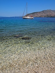Kalamos (nikfass) Tags: sea summer vacation beach sailboat island boat holidays sailing yacht anchor greekislands ionian beneteau kalamos       epl1