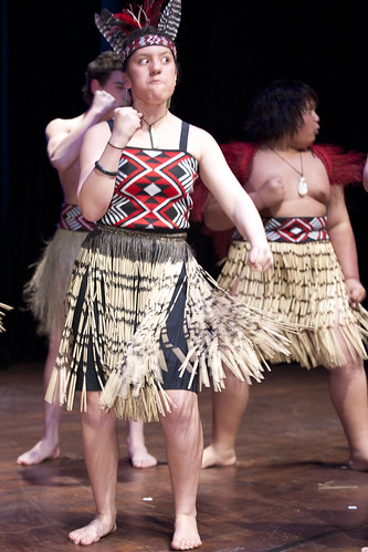 The Kapa Haka Group in action at the Auckland event.