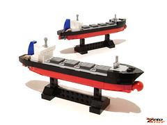 "Bulk Carrier M/V ""LOU"" (NPU contest entry) (ZetoVince) Tags: greek boat ship lego vince vessel cargo instructions m"