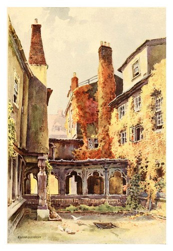 013- Claustro de los Canónigos- Windsor castle 1910- Ernest William Haslehust